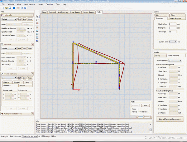 2D Frame Analysis Static Edition 5.7 Crack With Activator Free Download